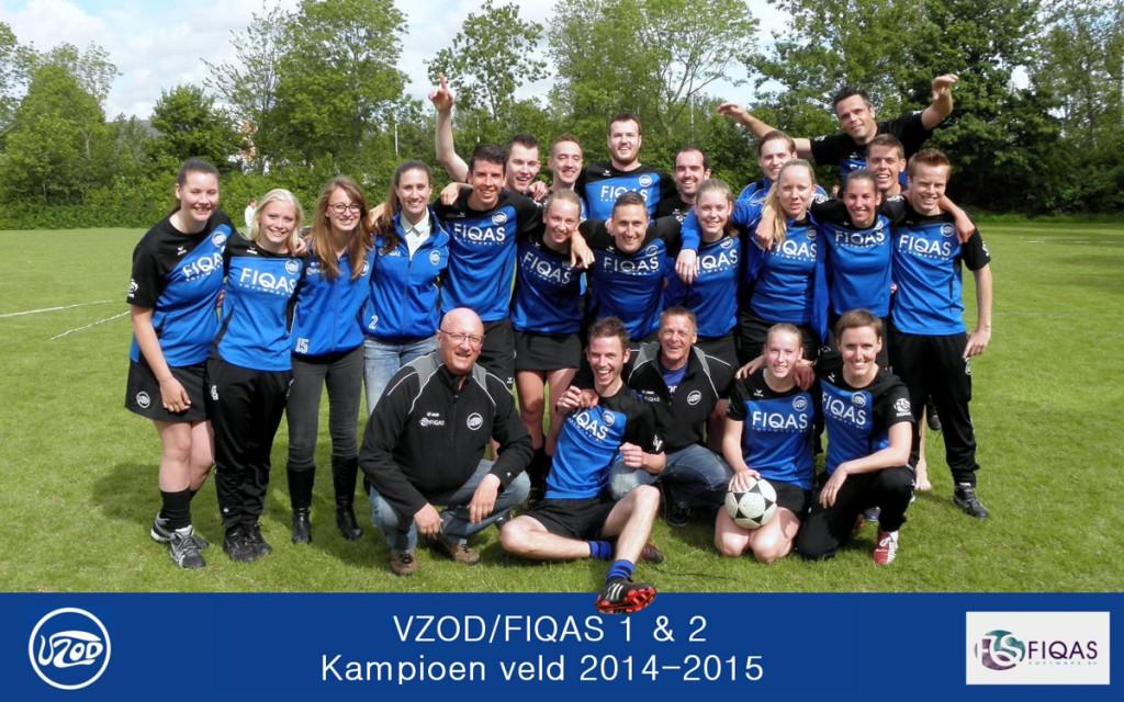 VZOD/FIQAS 2 behaalt kampioenschap in laatste wedstrijd