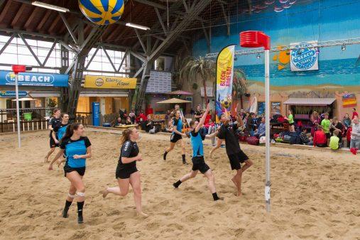 NK Beachkorfbal Indoor in The Beach op 22 februari