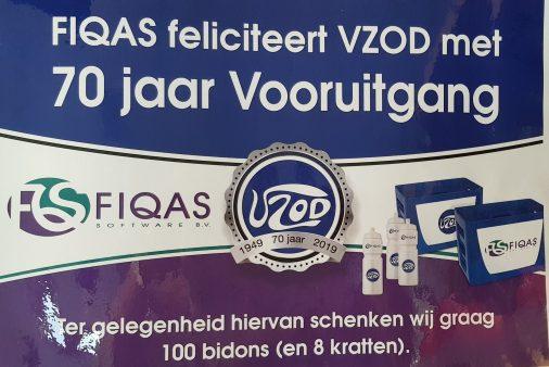 FIQAS feliciteert VZOD met jubileum